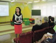 Лариса Николаевна Вишнякова, начальник отдела МКУ ОМЦ Балаковского МР открывает работу семинара
